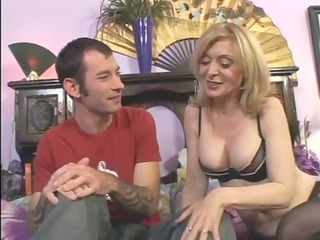 Cute Lingerie Mature Mom Old and Young Pornstar