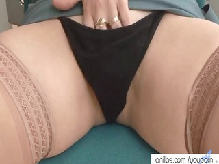 Lingerie Masturbating Mature Panty Stockings Wife
