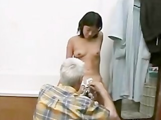 Asian Bathroom Daddy Daughter Old and Young Skinny Small Tits Grandpa
