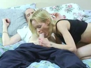 Amateur Blonde Blowjob  Skinny Tattoo