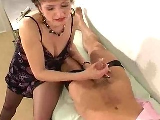 Handjob Mature Mom Old and Young Stockings Stockings