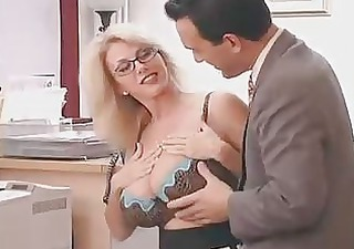 Amazing Big Tits Cute Glasses Lingerie  Office Secretary Boss