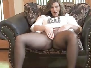 Amateur Masturbating Mature Pantyhose Solo