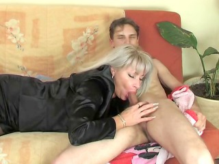 Blowjob Clothed Mature Mom Old and Young Russian