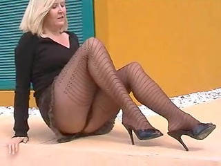 Fetish Legs Mature Pantyhose Pantyhose Flashing