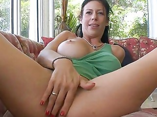 Big Tits Masturbating  Wife