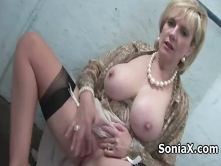 Amazing Big Tits British European Masturbating  Natural Nipples Pornstar Solo Stockings