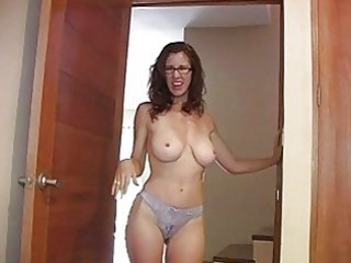 Amazing Big Tits Glasses  Panty Boobs