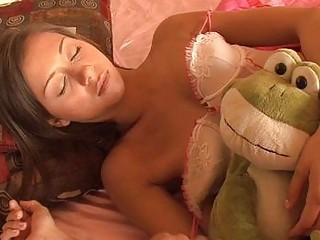 Lingerie Skinny Sleeping Teen