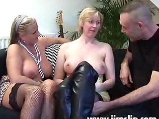 Amateur British European Mature Old and Young Threesome