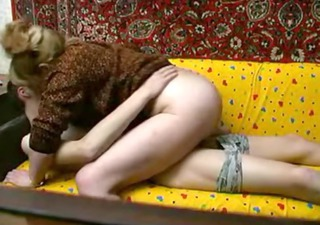 Amateur Clothed Homemade Mom Old and Young Riding Russian Son Mother