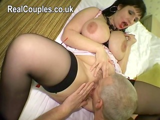 Amateur Big Tits Chubby Licking  Natural Stockings Wife Housewife