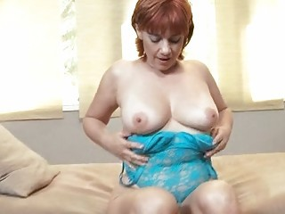 Lingerie Mature Natural Redhead Stripper