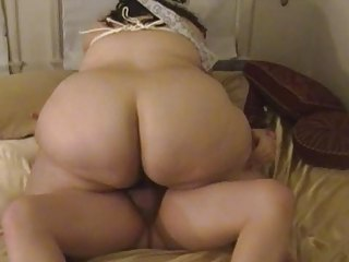 Amateur Ass  Homemade  Riding Wife Tied Boobs Housewife