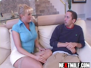Big Tits  Mom Old and Young Stockings Housewife