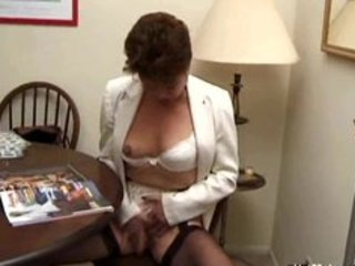 Lingerie Masturbating Mature Mom Stockings Vintage