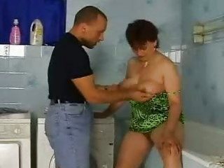 Bathroom European German Mature Mom Old and Young German