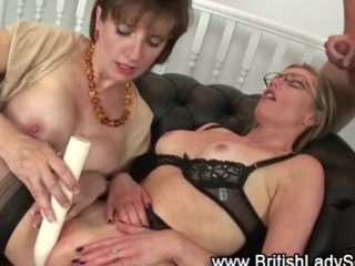 Amazing British European Glasses  Pornstar Threesome Toy