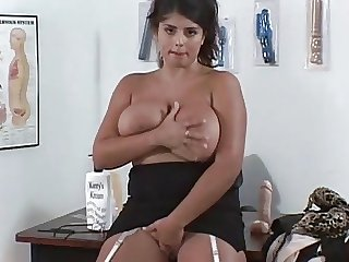 Big Tits British Chubby Dildo European  Natural  Toy Monster British
