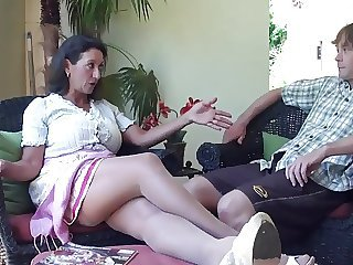 Brunette  Mom Old and Young Stepmom