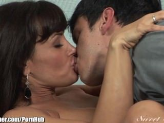 Brunette Kissing  Mom Old and Young Boobs Huge Mother Italian