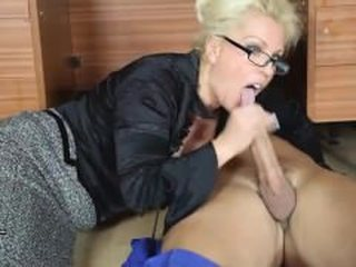 Blowjob Clothed Glasses  Pornstar Teacher Stockings