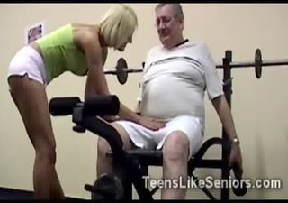 Amateur Daddy Old and Young Sport College