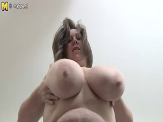 Big Tits Chubby Mature Natural Solo British Housewife