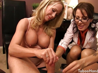 Doctor Glasses Handjob  Threesome Uniform