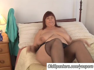 Amateur  Mature  Solo Stockings Pantyhose