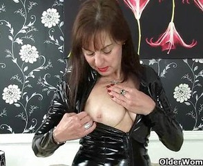 Latex Mature Nipples Piercing  Stripper