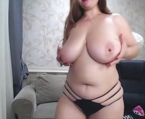 Amazing Big Tits Chubby  Mom Natural Panty  Solo Webcam
