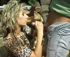 Clothed Farm Handjob  Outdoor