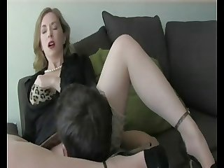 Amazing Clothed Cute Licking  Stockings Teacher Dirty Stepmom