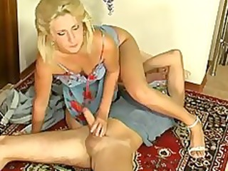 Blonde Handjob  Mom Old and Young