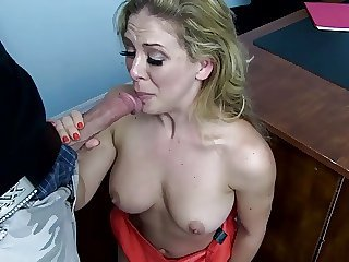 Blowjob  Mom Old and Young Stepmom Boss
