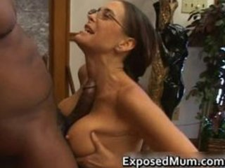 Glasses Interracial Mature Tits job