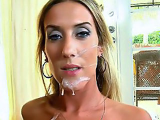 Cumshot Facial Cute Skinny Milf Facial