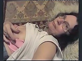 Glasses Masturbating Grandma