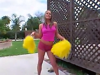 Blonde Cheerleader Cheerleader