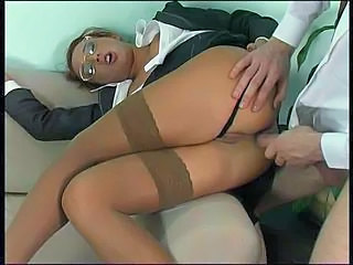Anal Babe Clothed Glasses Stockings Babe Anal Babe Ass Stockings Glasses Anal