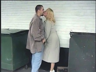 Blonde Kissing Outdoor Outdoor Caught