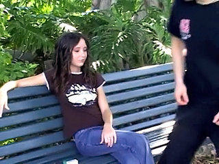 Brunette Goth Outdoor Outdoor