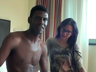 Brunette Glasses Interracial