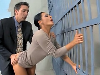 Amazing Babe Brunette Clothed Doggystyle  Prison Clothed Fuck Milf Babe Son Wife Milf