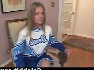 Blonde Casting Cheerleader Cute Cute Blonde Audition Cheerleader