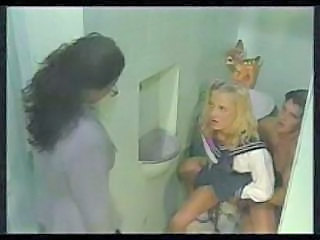 Blonde Clothed Riding School Teacher Vintage Bathroom School Teacher