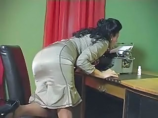 Brunette Office Secretary