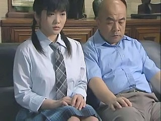 Asian Brunette Japanese Old and Young Pigtail School Uniform Old And Young Japanese School School Japanese