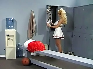 Blonde Cheerleader  Skirt Uniform Cheerleader
